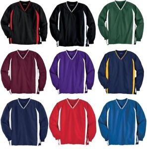 Sport Tek Mens Big & Tall V Neck Golf Pullover Windshirt Jacket NEW TJST62