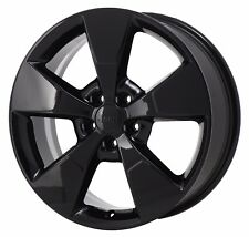 "18"" JEEP CHEROKEE ANNIVERSARY EDITION BLACK WHEEL RIM FACTORY OEM 2017 2018 9155"