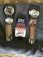 New ListingSox Bulls Illini Miller Beer Tap Handle