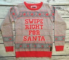 Tipsy Elves Small Swipe Right For Santa Ugly Christmas Sweater Pink Tinder NWT