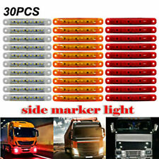 30Pcs Rosso Ambra Bianco 12-24V 9 LED Laterali Indicatori Luci Camion Rimorchio