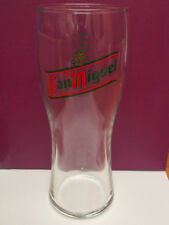 San Miguel Spanish beer tall pint glass - Pint Crown