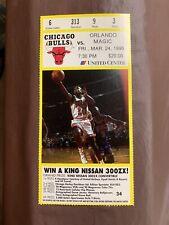 Michael Jordan I'm Back 1st Home Game Retirement Ticket Stub Chicago Bulls 1995