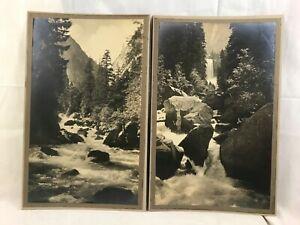 Great Pr. Orig. c1900 Yosemite National Park Vernal Falls Silver Gel Photographs