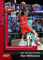 "2019-2020 Zion ""PEACE"" Williamson RC Rookie #134 Panini Instant vs.Ja Morant PS"