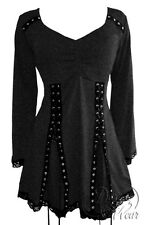 NWT WOMENS PLUS SIZE CLOTHING ELECTRA CORSET TOP IN CHARCOAL 3X