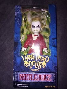 Living Dead Dolls Beetlejuice Red Tuxedo BNIB Mint! 2011 RARE Hard to Find Doll