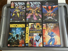 X-Men, Fantastic Four, Watchmen, On DVD