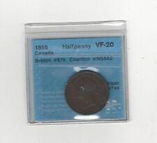 1856  Canada, Half Penny Token, Br# 876 Ch# NS5A2 ; CCCS Graded**VF-20**