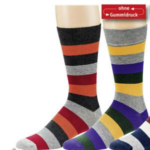 2 paar Socken bunt gestreift / Komfortbund ohne Gummi - Größe 47/50