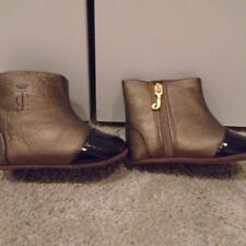 *Bnwot* Juicy leather & patent baby crib booties! Cute!