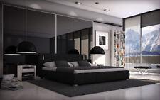 Bett 140x200 Doppelbett Designerbett Polsterbett Kunstleder Bettgestell inkl.LED