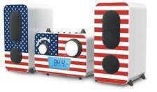 Kompakt Stereo Musik Anlage CD USB AUX Radio USA Großbritannien Flaggen Design