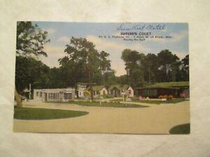 Biloxi Mississippi Postcard Sun Kist Motel Butlers Court MS