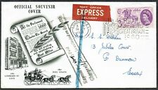 1960 EXPRESS Delivery Souvenir Cover 'Express Fee NOT Paid/Charge of 1/-  SG619