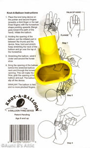 """""""Knot A Balloon"""" Animal Twisty Tying Devise With Instructions"""