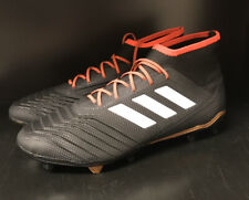 Adidas Predator 18.2 Fg Soccer Cleats - Size 9 - Black/Red - New In Box