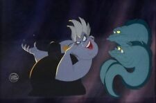 1989 Disney Little Mermaid Ursula Eels Flotsam Jetsam Original Animation Cel