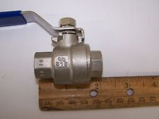 "(ONE) 3/8"" SEA-DOG LINE FEMALE 316 S.S. FULL PORT BALL VALVE WOG 1000"