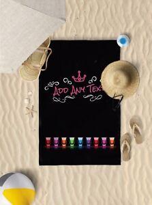 "58"" x 39"" Personalised shots microfibre beach towel sun bathing towel only"