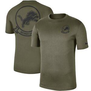 Authentic Nike Men's Detroit Lions 2019 NFL Salute to Service Olive T-Shirt