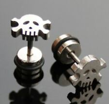2 unidades Fake Plug expansor pendientes motivo: cráneo/Skull ywhy 156