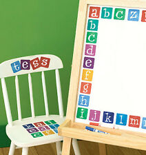 WALLIES ALPHABET LETTERS wall stickers 40 prepasted decals ABC nursery school