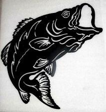 Black Fish BIG 19 X 20 Large Mouth Bass Fishing Metal Art Gift Decor