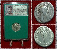 Roman Empire Coin MARCUS AURELIUS Mars With Spear on Reverse Silver Denarius