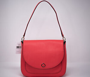"""New"" Kate Spade Kailee Medium Flap Shoulder bag Leather Handbag Stoplight (Red)"