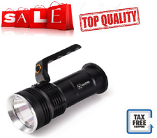 Rechargeable LED Spotlight Ultra Bright Flashlight Handheld Searchlight 8000LM