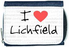 I Love Heart Lichfield Denim Wallet