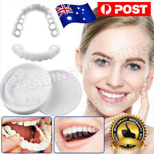 Snap On Bottom Upper+Lower False Teeth Dental Veneers Dentures Fake Tooth Smile
