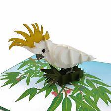 Sulphur Crested Cockatoo 3d pop up card