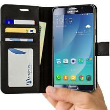 Black Wallet Flip Case Cover for Samsung Galaxy Note 5 Phone