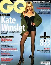 GQ UK February 2003 KATE WINSLET Martin Scorcese COLDPLAY Ana Hickman SIGUR ROS