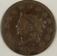 1835 Coronet Head Large Cent. Large 8, Large Stars. VG. RAW3915/HN