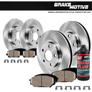 Front+Rear Brake Rotors Ceramic Pads For 2013 2014 2015 - 2017 Ford Fusion MKZ