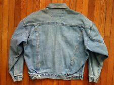 """Vintage 80's GUESS Georges Marciano Denim Jean Jacket Made In USA 48"""" Chest"""
