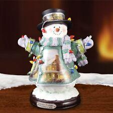 Thomas Kinkade Figurine - CHRISTMAS LIGHTS New Item 1513888014 COA