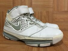 RARE�� Nike Zoom Kobe II 2 White Metallic Silver Gray Sz 10 316022-111 Shark