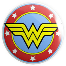 Wonder Woman Symbol BUTTON PIN BADGE 25mm 1 INCH | Feminist Women Girls