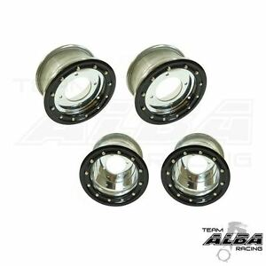 YFZ 450 450R  Front   Rear wheels  Beadlock  10x5 and 9x8 Alba Racing  sl/blk 32