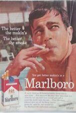 1959 Marlboro Cigarettes Tattoo Smoking Swimming Pool Original Ad AS IS