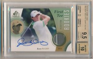 RORY MCILROY 2014 SP GAME USED RC FIRST TEE AUTO RELIC PATCH /199 BGS 9.5 GEM 10