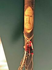 Custom made native american cane carved by Indian Stan nicely done