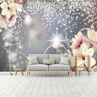 Vlies Fototapete 3D Abstrakt Magnolien Schlafzimmer Blumen Tapete XXL Wandtapete