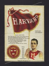 S23 Richmond Tobacco Silk - College Flag Seal Song & Yell Series - Harvard Crew!