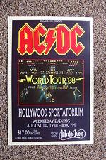 Ac/Dc Tour Poster 1988 Hollywood Sportatorium White Lion-