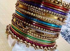 Girls Designer Party wear multicolor Antique 20 pc  bangle set (size 2.6)